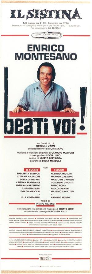 Beati Voi! (1992). Locandina.