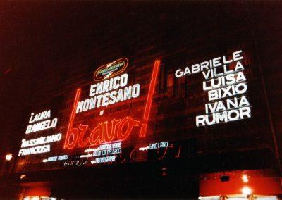 Bravo! (1981). Luminosa del Teatro Sistina.
