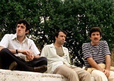 Febbre da cavallo (1976). Insieme a Gigi Proietti e Francesco De Rosa.