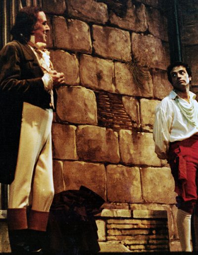Rugantino (1978). Insieme a Cesare Gelli.