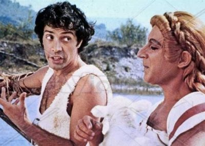 Remo e Romolo – Storia di due figli di una lupa (1976). Insieme ad Oreste Lionello.