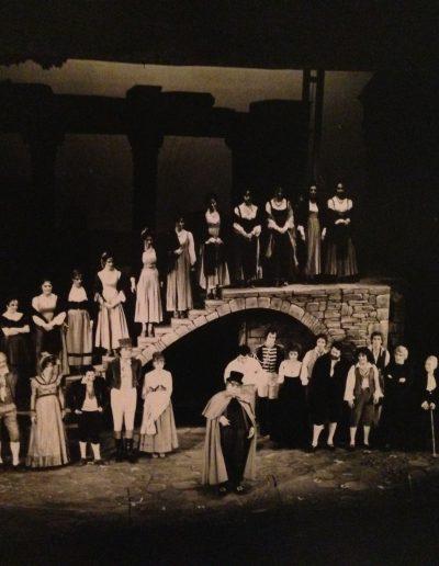 Rugantino (1978). Applausi. Al centro del palco Aldo Fabrizi.
