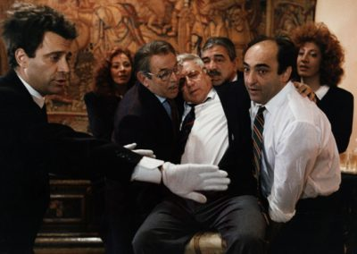 Il Volpone (1988), insieme a Maria Angela Giordano, Enrico Maria Salerno, Paolo Villaggio, Renzo Montagnani, Alessandro Haber, Athina Cenci