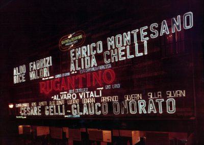 Rugantino (1978). Luminosa del Teatro Sistina.