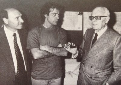 Bravo! (1981). Sandro Pertini nei camerini del Teatro Sistina insieme ad Enrico.