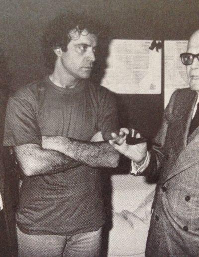 Bravo! (1981). Nei camerini del Teatro Sistina insieme a Sandro Pertini.