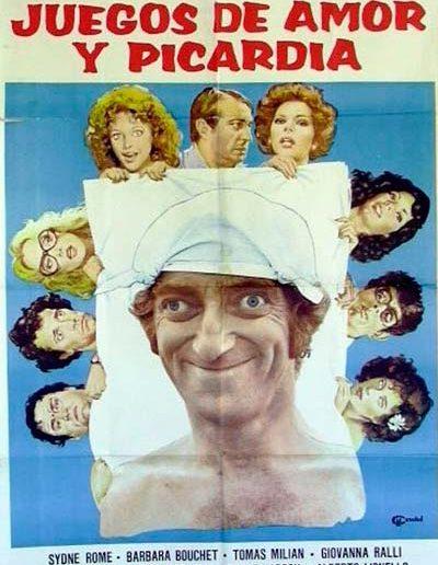 40 gradi all'ombra del lenzuolo (1976). Locandina spagnola.