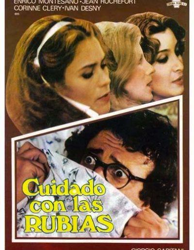 Odio le bionde (1980). Locandina spagnola.