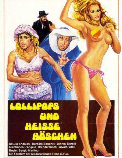 Spogliamoci così, senza pudor… (1976). Locandina tedesca.