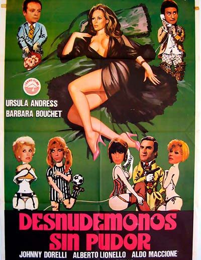 Spogliamoci così, senza pudor… (1976), locandina spagnola