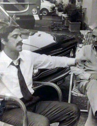 Febbre da cavallo (1976). Insieme a Steno durante le riprese.