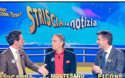 Enrico Montesano ospite a Striscia la Notizia